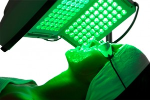 Green LED pigmentation treatment